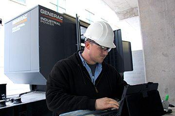 Generac Industrial Power startup installation